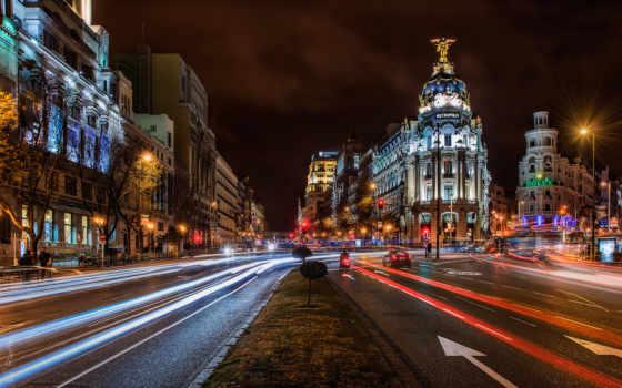 город, ночь, испания