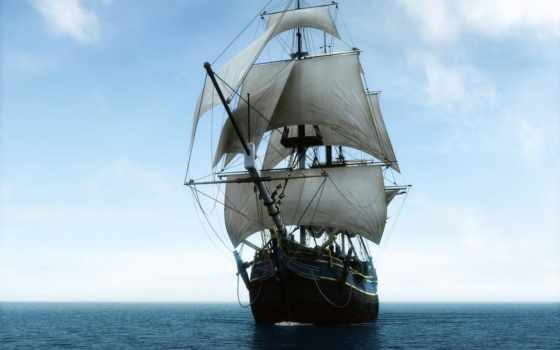 корабль, sailboat, красивые