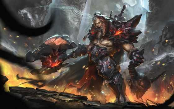 diablo, iii, art, игры, reaper, souls, video, варвара, демон, concept,