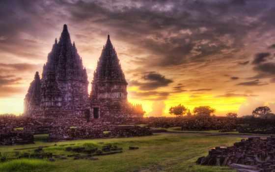 prambanan, candi, храм, indonesia, ди, jonggrang, yang, dan, legenda, roro, ini,