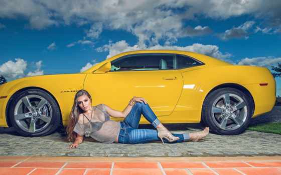 camaro, chevrolet, девушка, blonde, girls, sexy, helena, photos, cars,