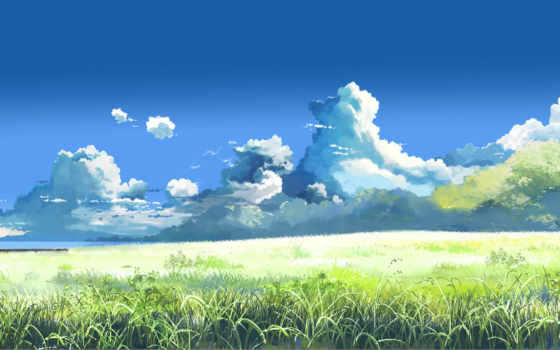 макото, синкай, облаками, anime, назад, summer,
