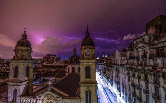 аргентина, эрдельтерьер, buenos, город, природа, храм, free, lightning,