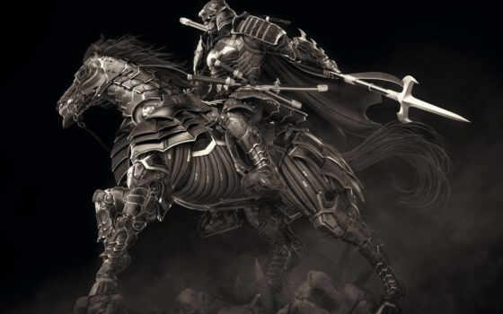 shogun, batman, studio, mason, kéo, comics, оружие, доспех, лошадь