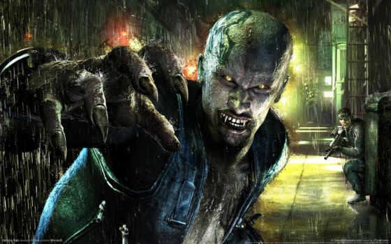 vampire, rain