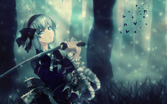anime, sword