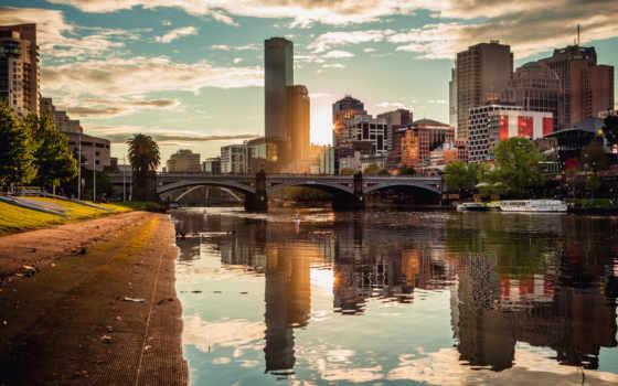 melbourne, город, австралия, high, desktop, definition, widescreen,