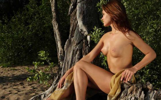 природе, девушки