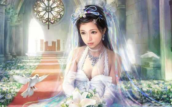 невеста, фэнтези, девушка