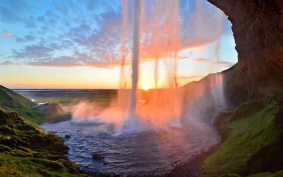 водопад, водопады, скалы