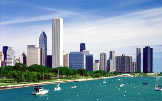 chicago, город, иллинойс