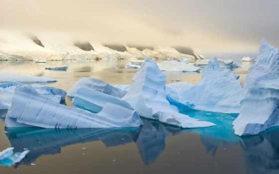 антарктида, iceberg, природа, сумерках, фоновые, тегом, рисунки, большая, самая, качественная, возможность,