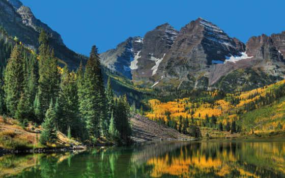 природа, красивые, лес, горы, озеро, осень, коллекция, красивая,