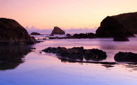 plage, nouvelle, zélande, paysage, paysages, fond,
