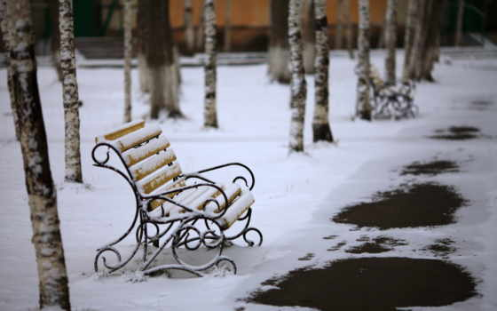 winter, город, park, скамейка, lantern, print,