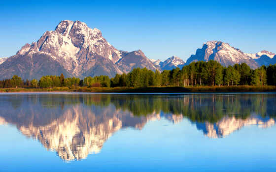 титон, park, national, grand, гранд, moran, wyoming, teton, mount, сша,