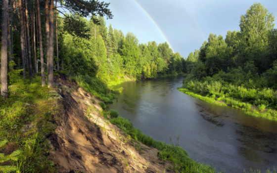 река, обрыв