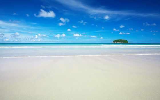 пляж, pozadine, море