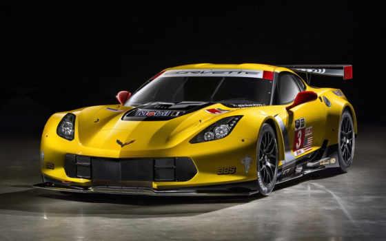 corvette, спорткар, yellow, chevrolet, stingray, racing,