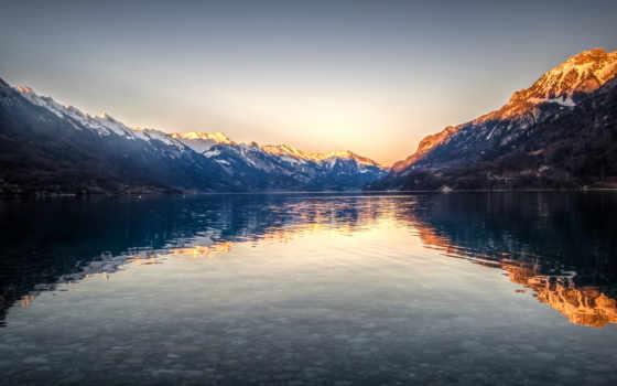 озеро, rgb, desktop, brienz, швейцария,