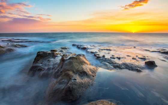 ,море, берег, океан, небо, горизонт, побережье, волна, спокойствие, восход солнца, ветровая волна, 4k resolution, mobile phones, 1080p, 720p,