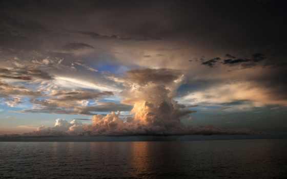 буря, облако, море
