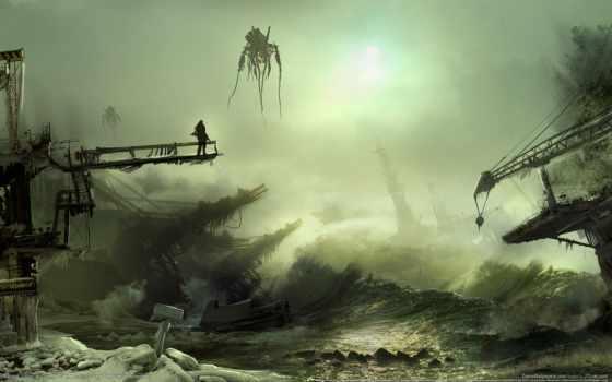 апокалипсис, fantasy, artwork, смерть, уничтожение, chaos, water, art, science, pinterest,