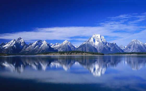 природа, горы, water, озере, горном, небо, landscape, символы, goodfon,