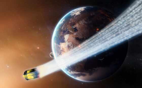 kometa, kosmos, planeta, земля, shirokoformatnyi, огонь, хвост, razreshenie, астероид, zvezda