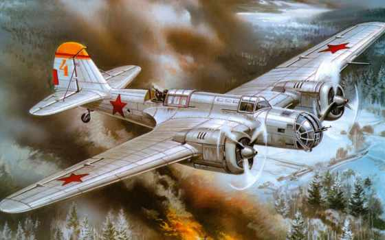война, скоростной, небо, советский, арт, картинка,