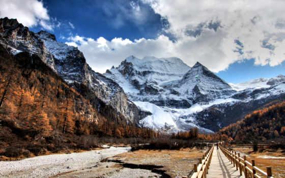 снежные горы Фон № 83131 разрешение 1920x1200