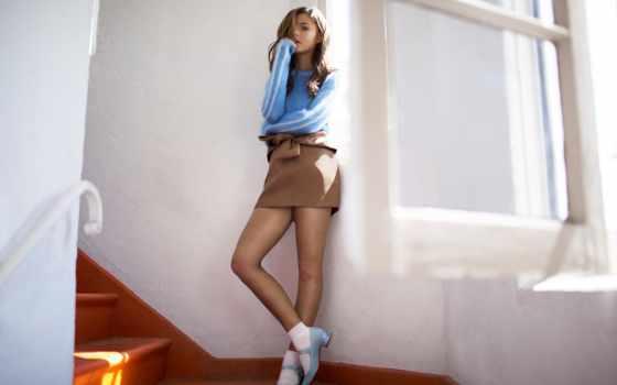 flaunt, scott, stephanie, фотограф, молодой, актриса, лестница, журнала, фотосессии,