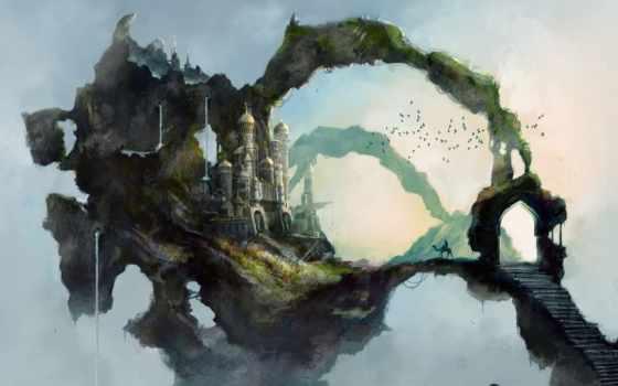 art, fantasy, landscapes, paintings, drawings, more, illustrations, об, digital,