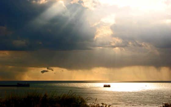 ocean, oblaka, небо, képtelenség, manzara, természet, июнь, свет, страница,