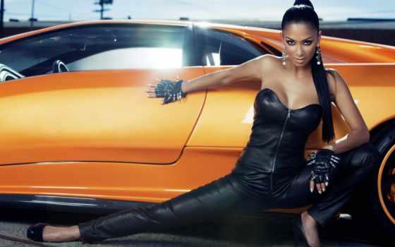 , nicole, кожаной, одежде, николь, leather, scherzinger, авто, hot,