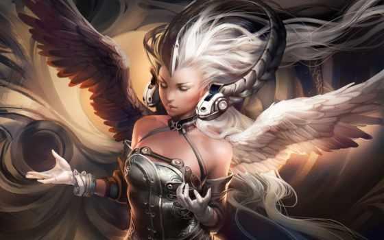 sakimichan, крылья