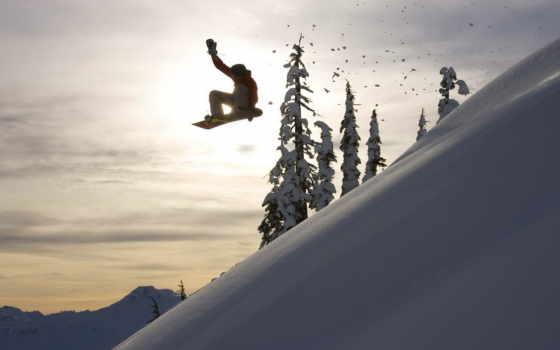 сноуборд, снег