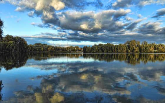 река, desktopwallpape, отражение