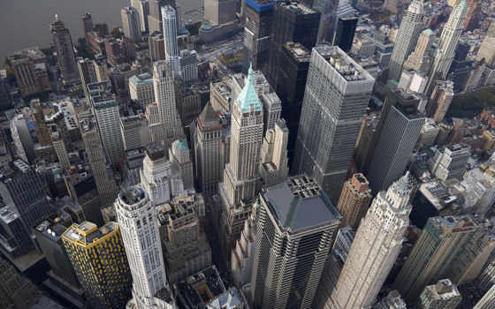 manhattan, город, york, new, skyscrapers, взгляд, art, high,