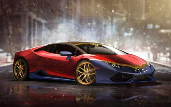 lamborghini, huracan, женщина, wonder, strange, superheroes, драйв,marvel, cars,