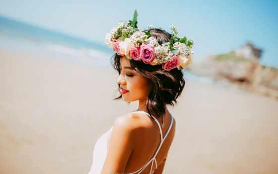 hawaiian, женщина, туземец, hawaii, ноу, secret, голова