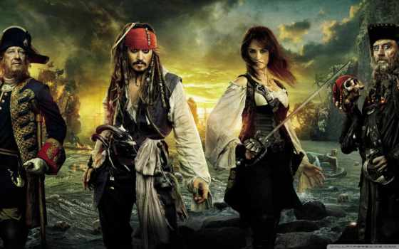 пираты, моря, карибского