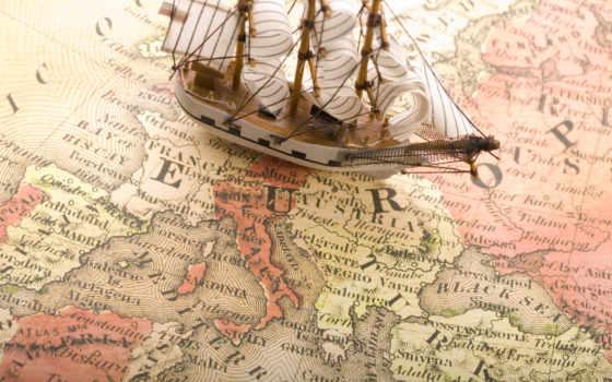 map, мира, карты, фрески, старинная,