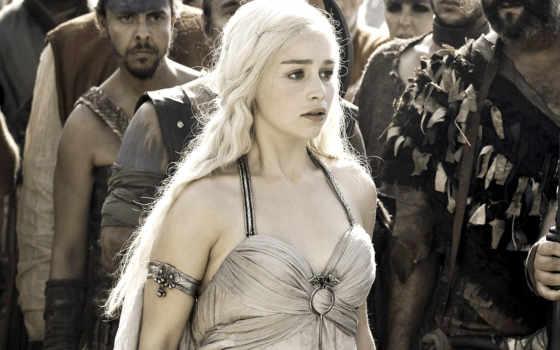 daenerys, emilia, clarke, targaryen, game, thrones,