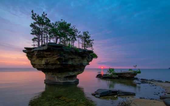 huron, озеро, сша, остров, michigan, своей, но, большой, островов, репа,