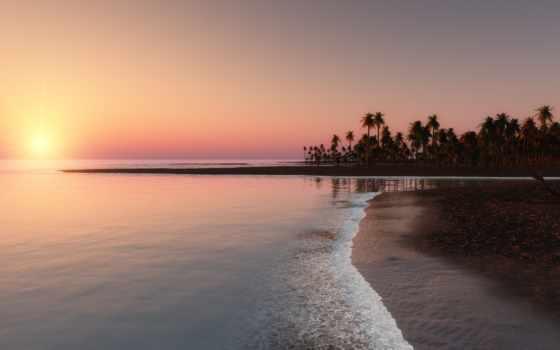 ocean, природа, пальмы, планшетный, tropics, природы, море, preview, ноутбук,