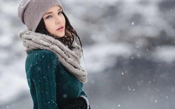 winter, девушка, brunette, снег, глаза, png, wish, decade