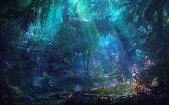 fantasy, fore, art, fond, лес, природа, fentezti, растительность, permission, vstheme