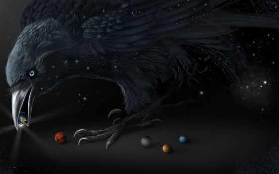 ворон, планеты