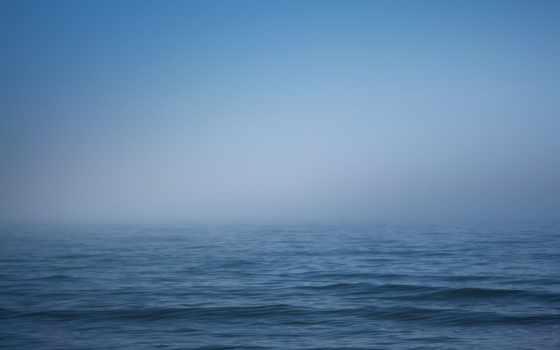горизонт, море, туман, water, волна, небо, laine, фото,